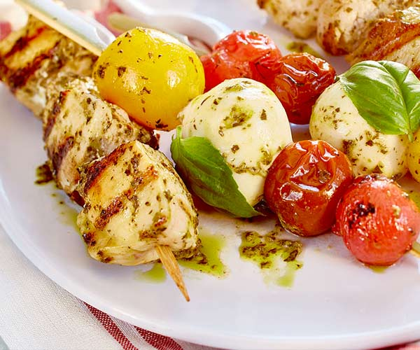 Photo of - Grilled Chicken & Caprese Skewers
