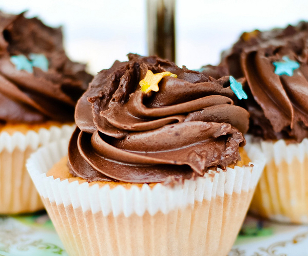 Photo of - Chocolate Chips and Mascarpone Cupcakes