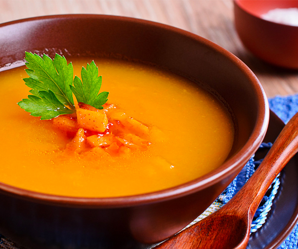 Photo of - Curried Carrot and Mascarpone Soup