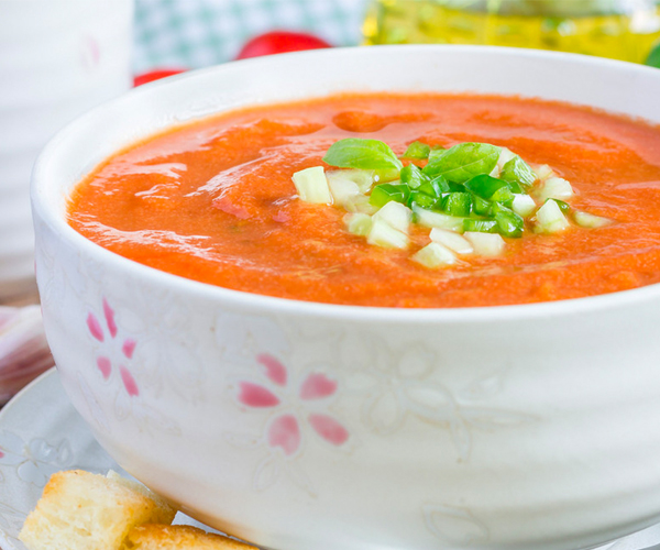 Photo of - Golden Gazpacho Soup