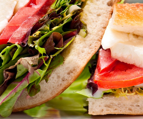 Photo of - Mediterranean Layered Sandwich