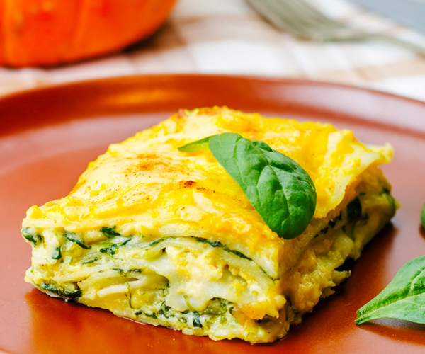 Photo of - Spinach, Ricotta and Pumpkin Lasagna