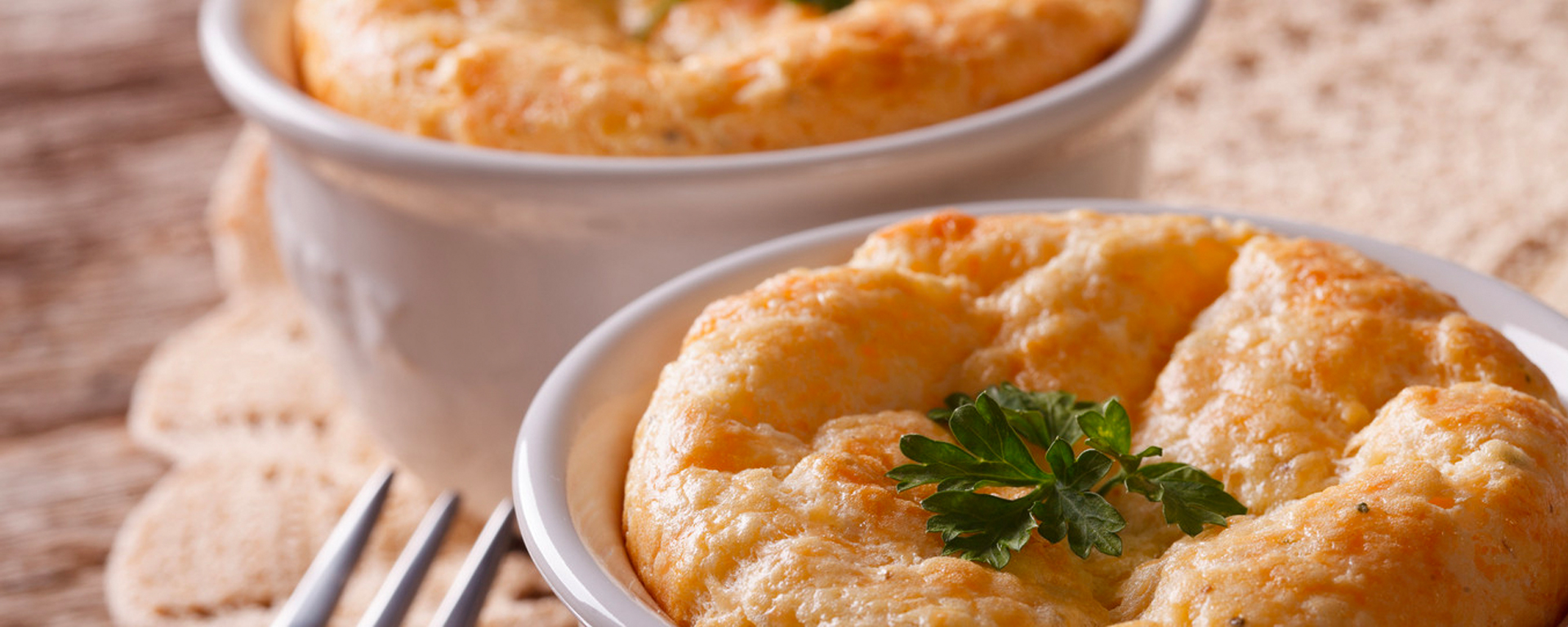 Photo for - Twice Baked Goat's Cheese Soufflés
