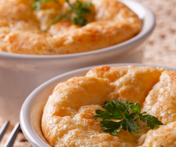 Photo of - Twice Baked Goat's Cheese Soufflés
