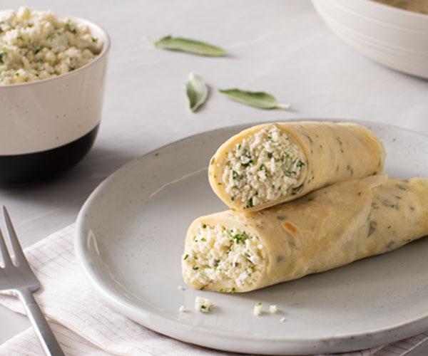 Photo of - Crêpes au fromage ricotta et à la sauge
