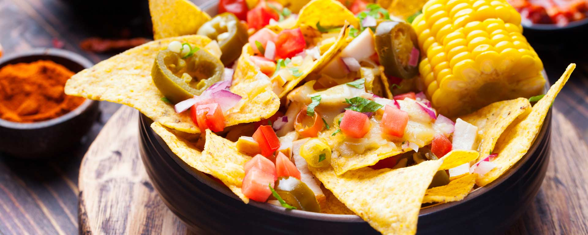 Photo for - Whole Wheat Nachos with Corn