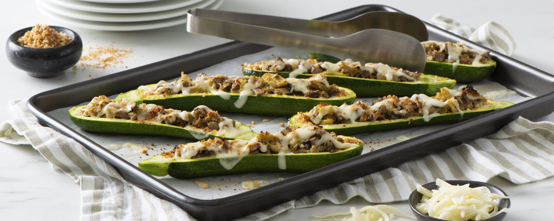 Photo for - Mushroom Stuffed Zucchini